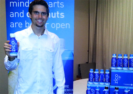 tyler Emery with Zico Coconut Water