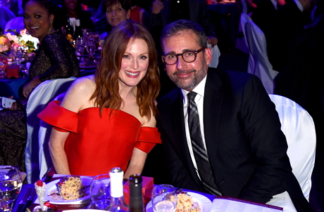 Actress Julianne Moore and Actor Steve Carell at the award cremony
