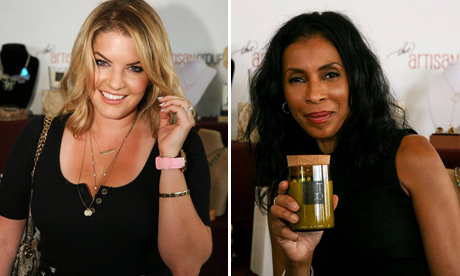 """Pandora Vanderpump of Real Housewives of Beverly Hills; Khandi Alexander of """"Scandal"""" with the Artisan Group jewelry designs."""