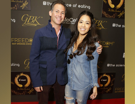 GBK's GAvin Keilly with actress Gina Rodriguez