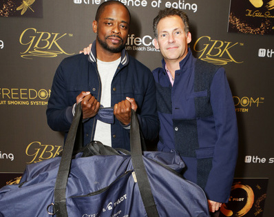 Actor Dule Hill with GBK's Founder Gavin Keilly at his 2016 Golden Globes Gifting Lounge