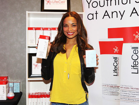 Rochelle Aytes with Life Cell