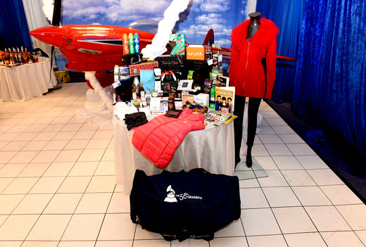 general view of the atmosphere is seen at the GRAMMY Gift Lounge during The 58th GRAMMY Awards at Staples Center on February 13 2016 in Los Angeles California