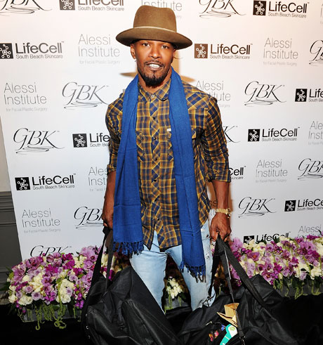 Actor Jamie Foxx on the Red Carpet at the GBK gifting lounge