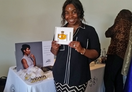 Cindy Nekim presented her new perfume, First Femme Fragrance