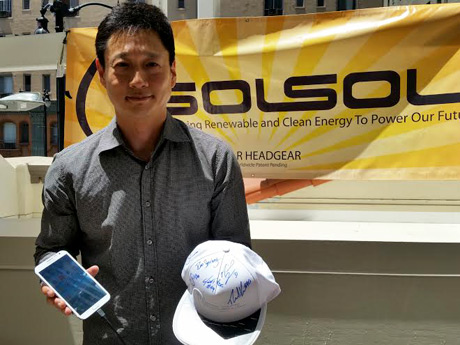 SOLSOL solar-powered hats