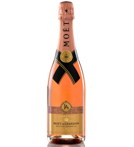 Moët & Chandon Nectar Imperial Rose City Bottle