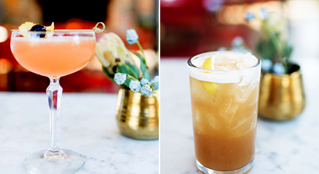 Spiced Plum Martini and Apple Bourbon Punch