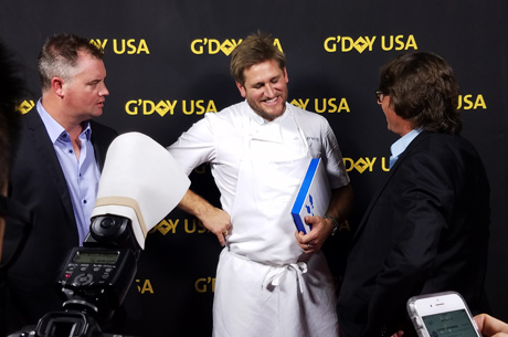 Astral Fisheries Dylan Skinns and and John Susman with Chef Curtis Stone