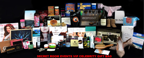 The Great Take-away Gift Bag from the Secret Room Events Red Carpet Luxury Lounge for the Oscars