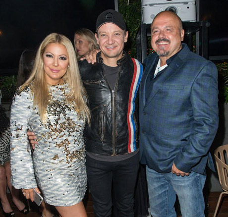 Second wife Katie Cazorla, Jeremy Renner and Grammy-winning producer-songwriter Walter Afanasieff