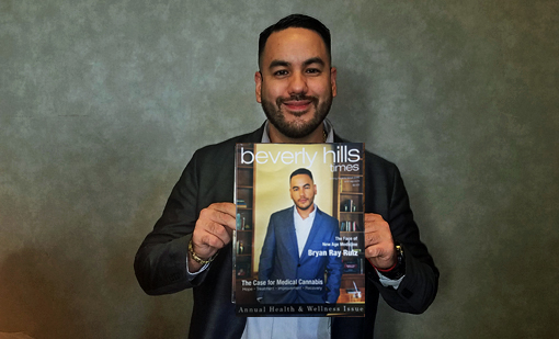 Bryan Ray Ruiz on the cover of Beverly Hills Times Magazine