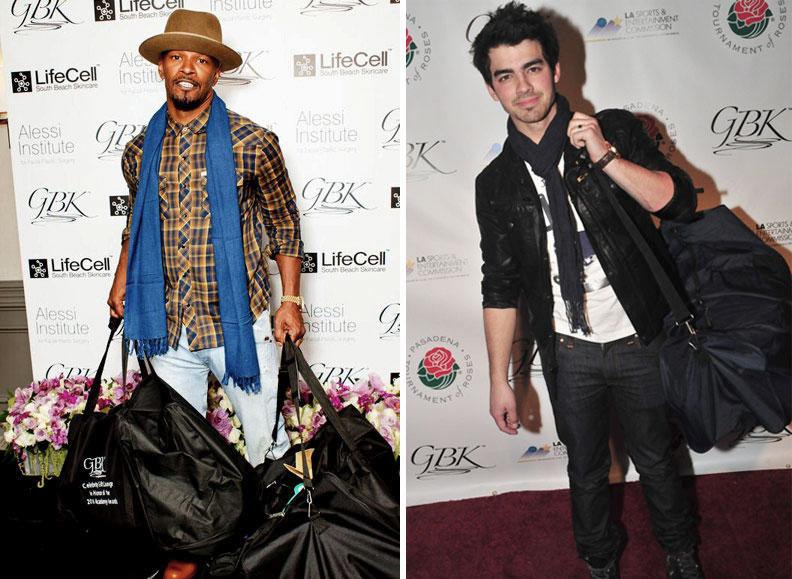 Jamie Foxx and Joe Jonas at a GBK gifting lounge