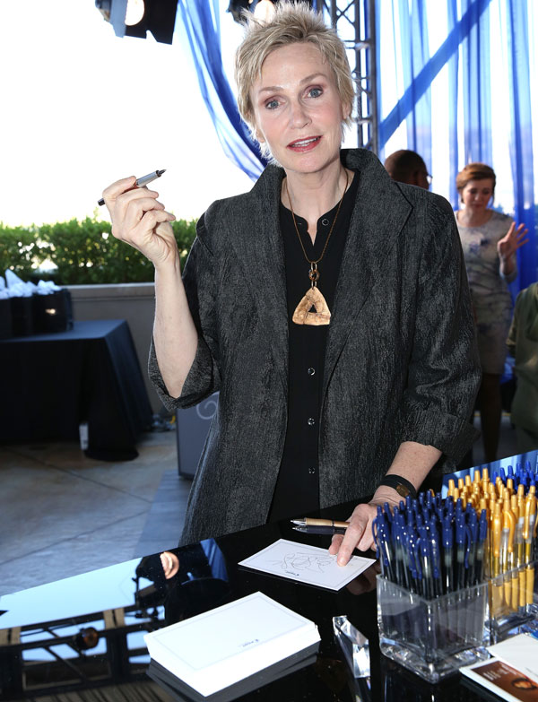 Actress Jane Lynch with Pilot Pen