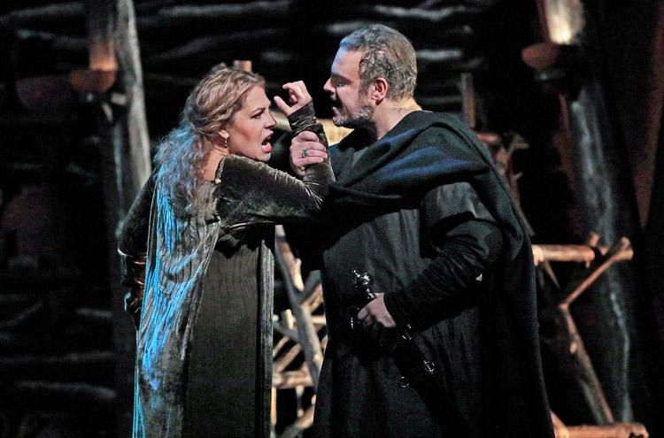 "Sondra Radvanovsky in the title role and Joseph Calleja as Pollione in Bellini's ""Norma."" Photo: Ken Howard/Metropolitan Opera"