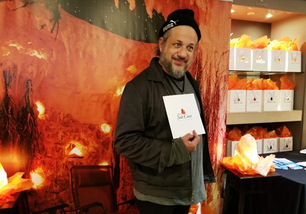 Actor Joe Reitman with Salt Caves