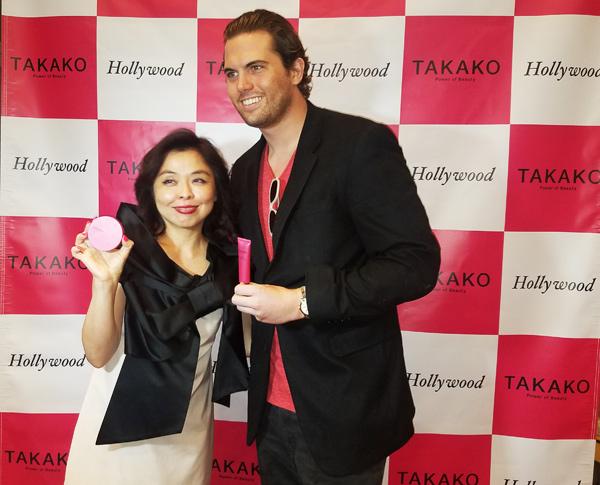 Takako with Reign Media's Tyler Emery