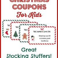 Christmas Coupons for Kids - Free Printable!