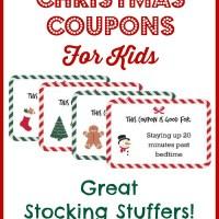 Christmas Coupons for Kids - Free Printable!