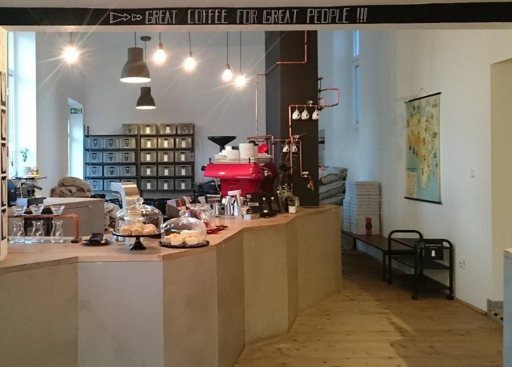 Neues Schwarz, Dortmund, Theke, Kaffee