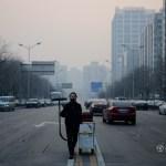 Künstler presst Pekinger Smog nach 100 Tagen zu einem Ziegelstein