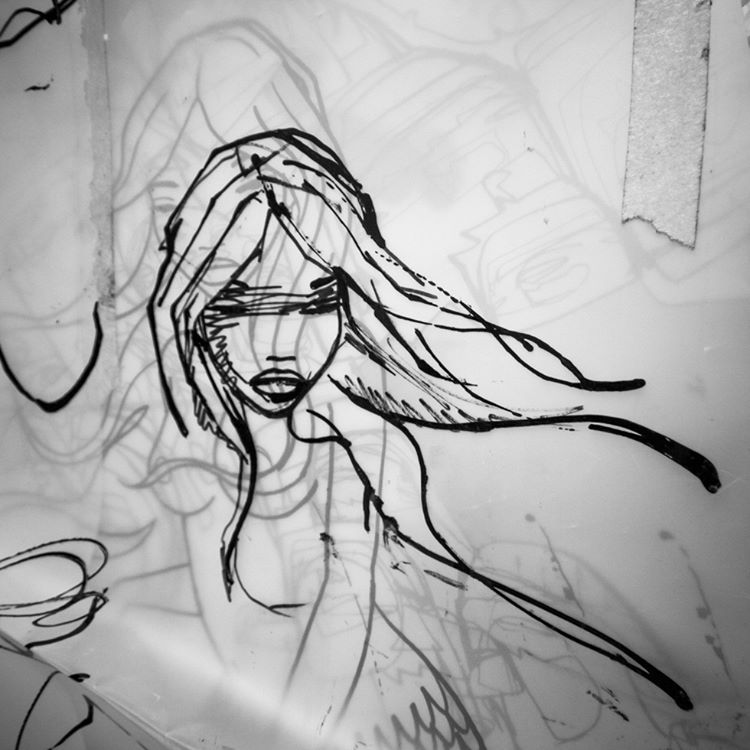 maumauarts original mermaid concept sketches on vellum unearthed during thehellip
