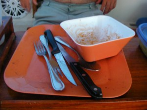 Dishes aboard