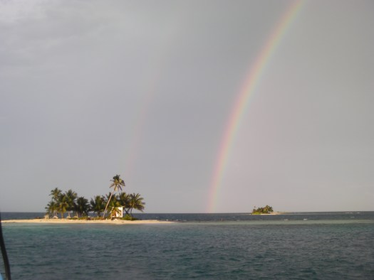 Double rainbow over Queens Cay