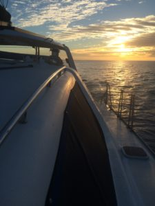 We do occasionally head out for sunset sailing with friends.