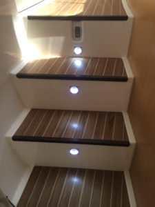 New courtesy lights on every step.