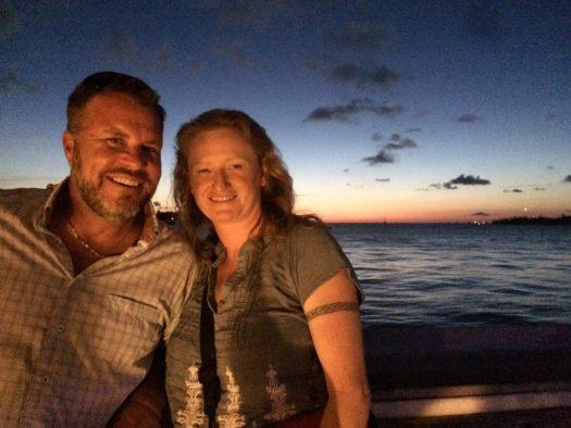 Tadd & Lindsay at sunset