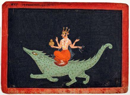 Varuna riding Makara