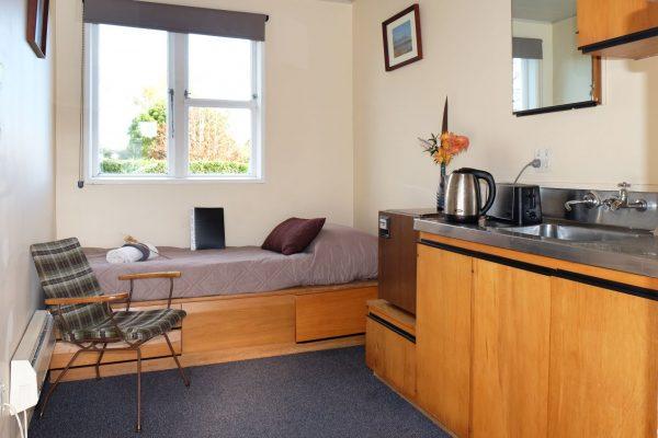 standard room single bed kitchenette