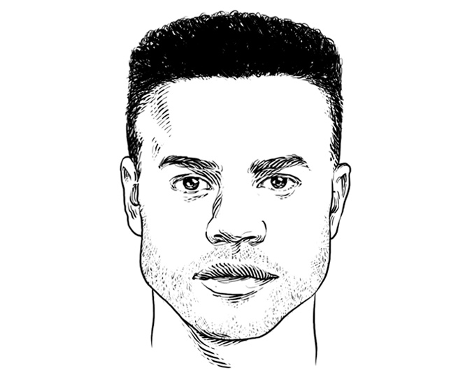 The perfect men's hairstyle/haircut for a Square Face Shape