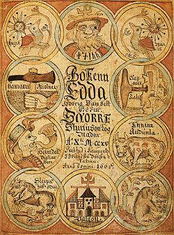 Il termine Edda (in norreno, al plurale Eddur) si riferisce ai due testi in norreno: Edda in prosa e Edda poetica, entrambi scritti in Islanda durante il XIII secolo; i due libri sono la maggiore fonte di informazioni sulla mitologia norrena.