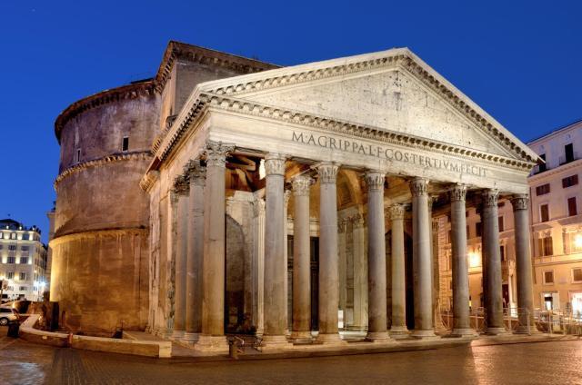 Pantheon a Roma, Tempio dedicato a tutti gli dei consacrato a Santa Maria e tutti i martiri il 13 maggio 609 o 610