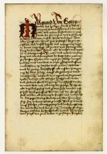 Carta iniziale del testo introdotto dal decreto di Marquardo di Randeck
