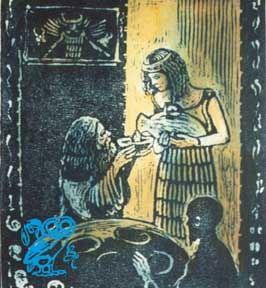 Gilgamesh e Siduri (disegno di Thom Kapheim 1999)