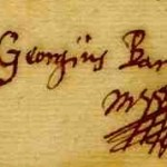 Firma di Barschius sulla lettera inviata a Kirker