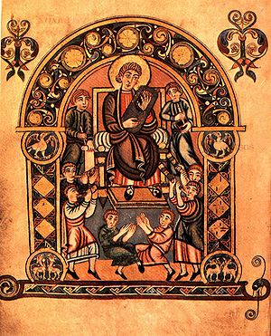 Il Salterio Vespasiano (London, British Library, Cotton Vespasiano A I) è un Salterio miniato anglosassone prodotto nel secondo o terzo quarto dell' VIII secolo. Contiene la più antica traduzione in inglese esistente della Bibbia. E 'stato prodotto nel sud dell'Inghilterra, forse alla St. Augustine's Abbey o Christ Church di Canterbury o a Minster-in-Thanet.
