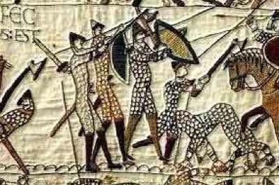 Housecarls dall'Arazzo di Bayeux (inizi XI secolo)