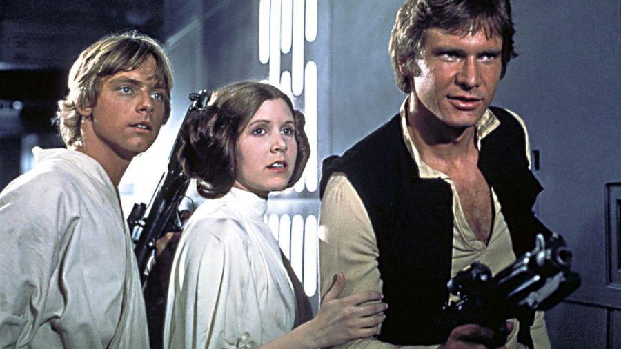 Il triangolo amoroso Luke-Leila-Han Solo con similitudini a quello Artù-Ginevra-Lancillotto