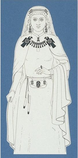 Il disegno della principessa adornata con i gioielli è tratto dal libro AA.VV, I Goti a San Marino, il tesoro di Domagnano, Milano, 1995.