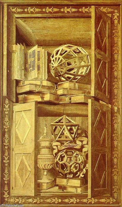Una delle tarsie installate nella Sagrestia di Santa Maria in Organo di Fra Giovanni da Verona, dopo il 1490. (Foto: whooart.com)