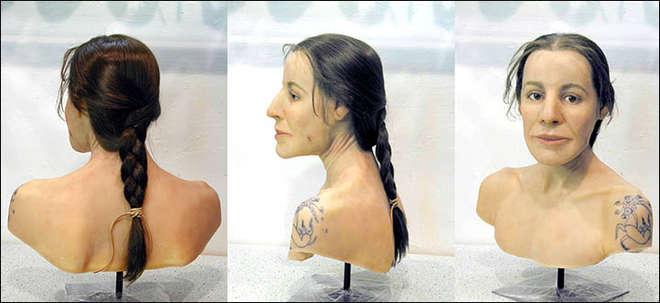 Ricostruzione del volto della Principessa ad opera dell'esperto in tassidermia svizzero Marcel Nyffenegger