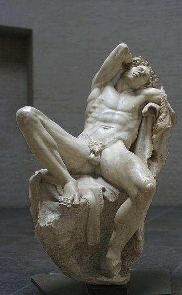 Il Fauno Barberini epoca ellenistica 220 a.C. circa. Gliptoteca di Monaco