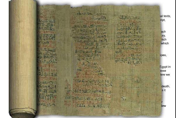 Edwin Smith Surgical Papyrus, denominazione del più antico trattato di chirurgia ad oggi noto, dal nome del suo traduttore. Cliccare l'immagine per accedere al sito inglese di visualizzazione e traduzione del testo