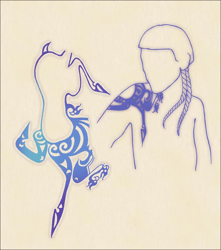 Disegno del tatuaggio del guerriero