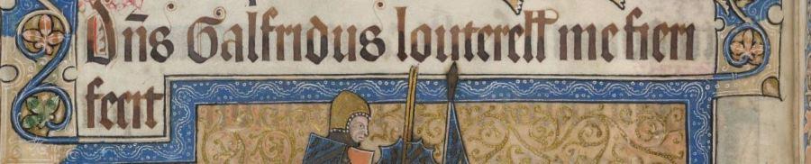"""""""Dominus Galfridus Louterell me fecit fieri"""" folio 202v (Foto: British Library)"""