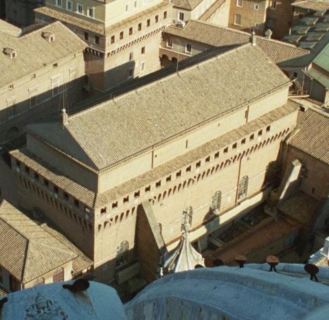 "Cappella Sistina vista dall'alto (""Sixtijnse kapel"" di Stinkzwam at nl.wikipedia)"
